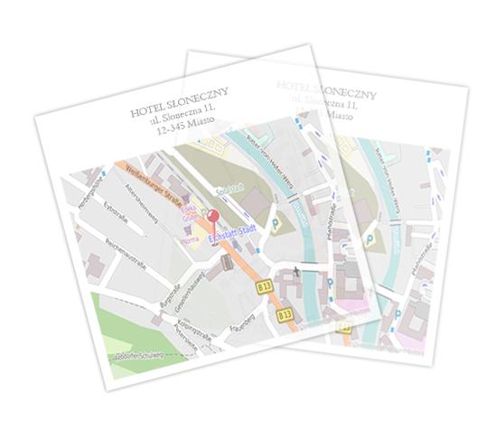 Mapka dojazdu - Kwadratowa